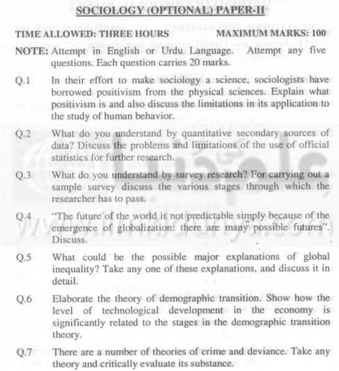 past papers on sociology Past papers for sociology 13 papers found for sociology, displaying all papers page 1 available past papers for: sociology select to download year qualification.