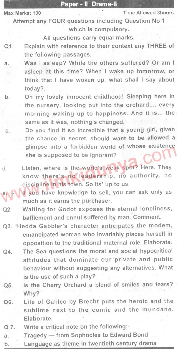 english part 2 past papers