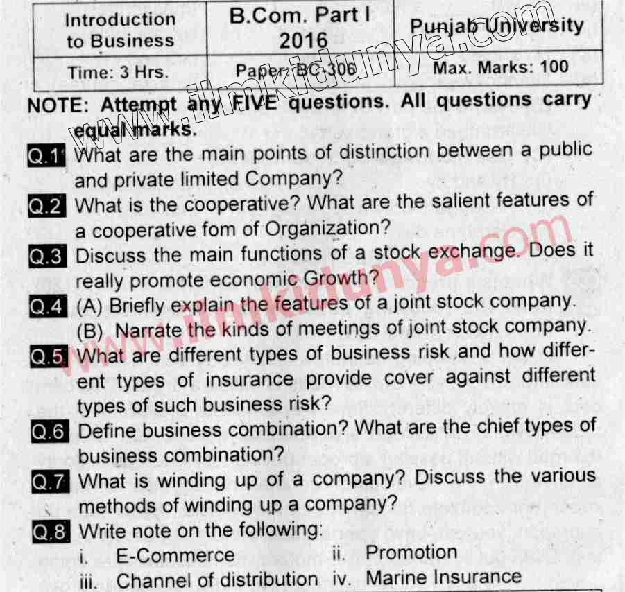 business law paper 2013 punjab university Punjab university issued pu part 2 advance financial accounting past papers download university of punjab part 2 of punjab part 2 business law past papers.