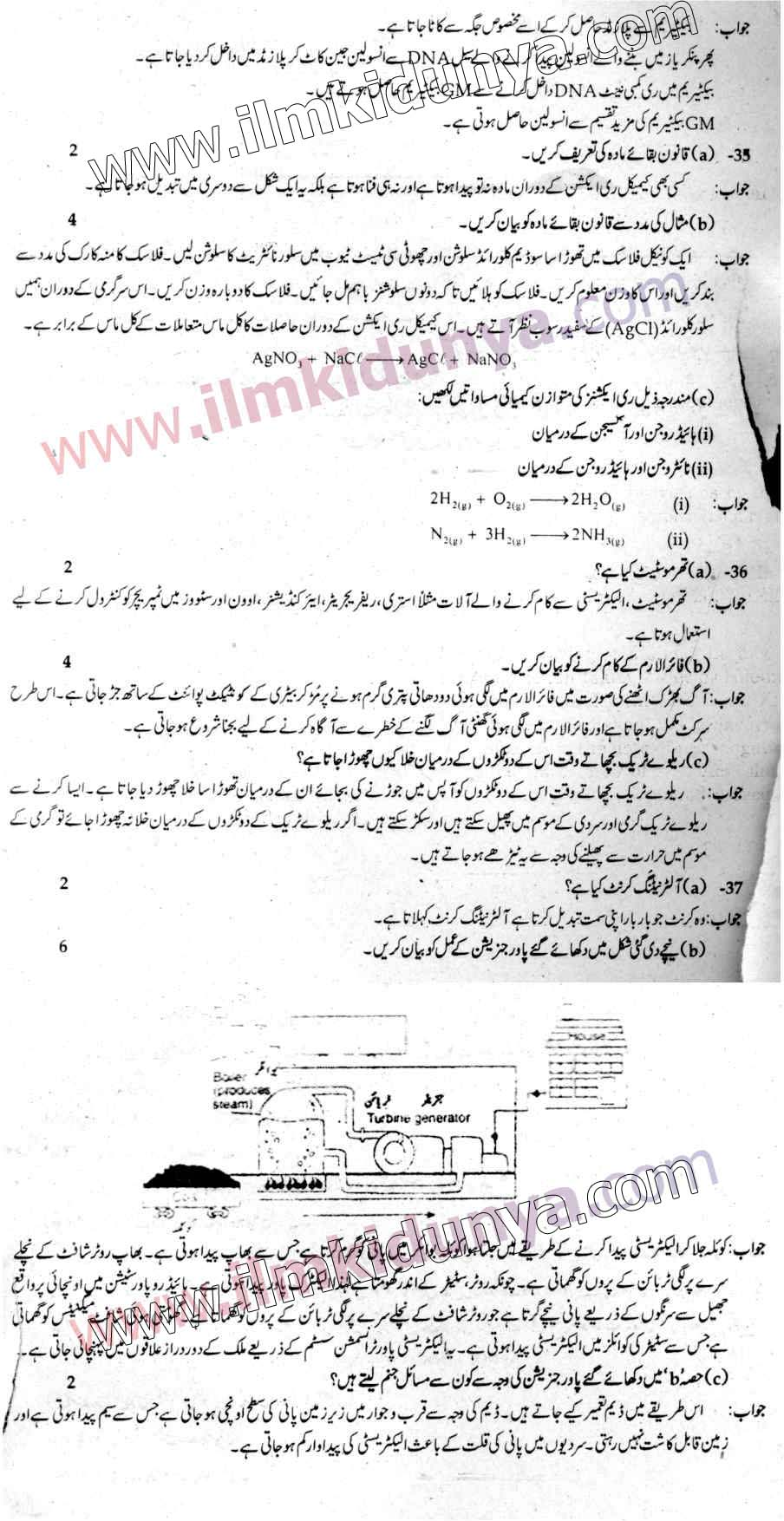 Punjab Examination Commission PEC 8th Class Past Paper 2018
